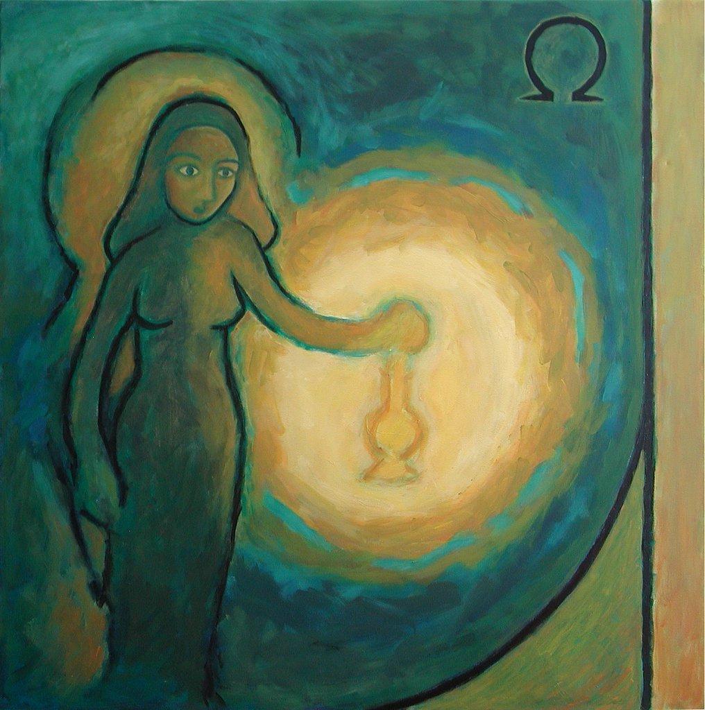 Femme dans l'attente