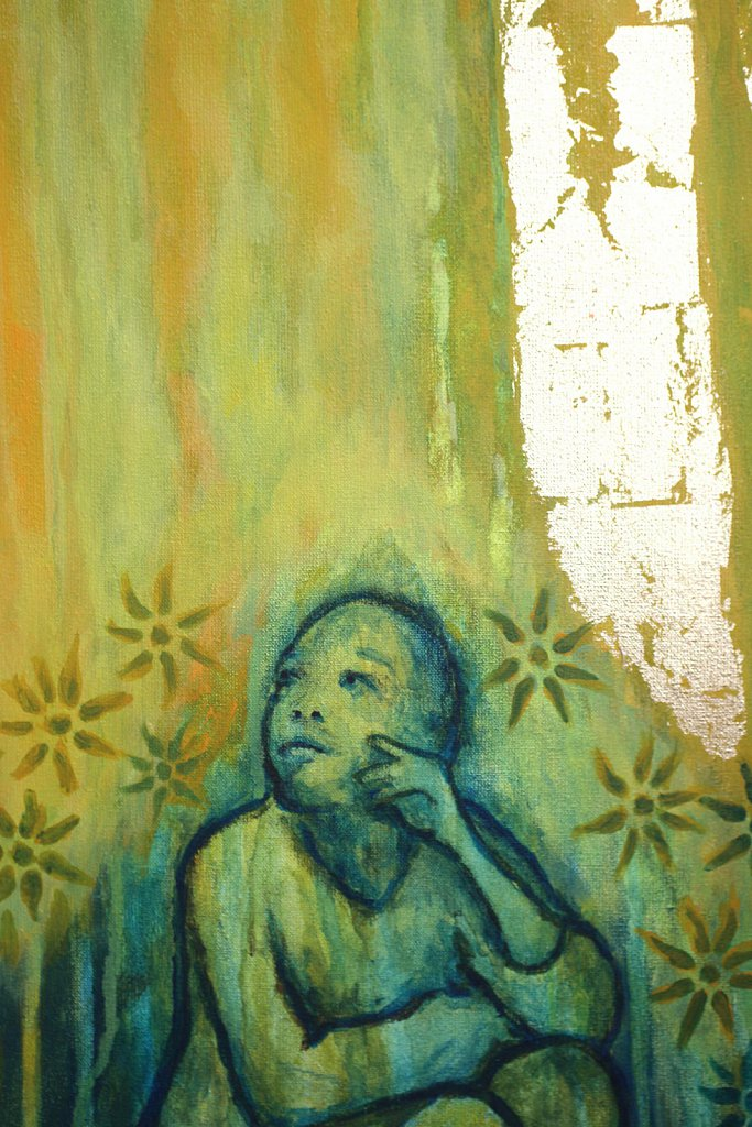 Marie-Madeleine au tombeau gros plan